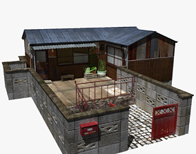 Japanese Tiny House 3D model