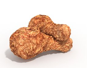 Fried Chicken Drumsticks Fast Food Hot Spicy 3D Model