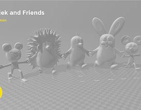 Krtek and his friends - 3D PRINT MODEL