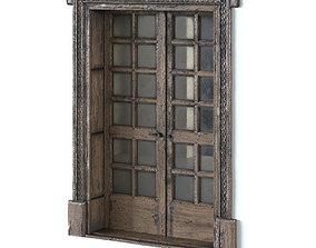 Double old wood door 3D
