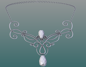 3D model realtime Necklace tiara