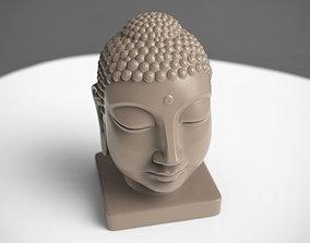 miniatures 3D printable model Buddha Head