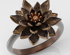 3D printable model Water lily ring