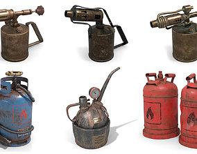 3D Flammable Equipment Set