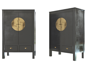3D Chinese style wardrobe
