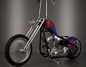Chopper 3D model moto