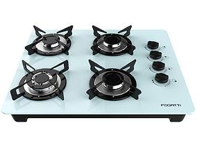 3D Fogatti Cooktop 4 Burners V400 TC White