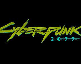 CYBERPUNK TEXT 3D asset