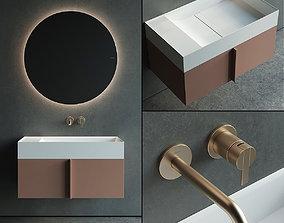 3D asset Inbani Paral Vanity Unit Set 2