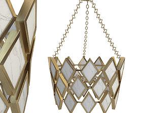 3D model Robert Abbey Edward Pendant in Modern Brass 2