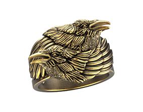 Crows ring 3D printable model