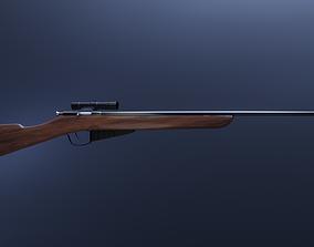 WW2 Sniper Rifle Mosin Nagant Style 3D model VR / AR ready