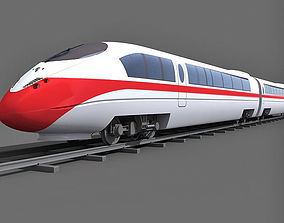 Red Speed Train 2 3D