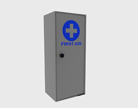 3D asset rigged First aid cabinet