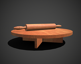 Rolling Pin and Table 3D model