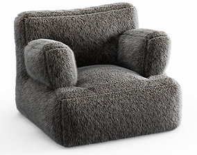 3D Iced Faux Fur Eco Lounger