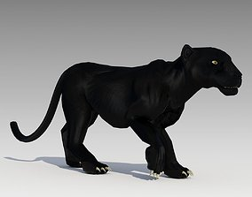 3D asset Black Panther Animated
