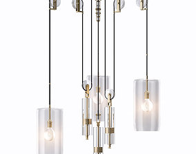 Holly Hunt Counterweight Chandelier 3D model
