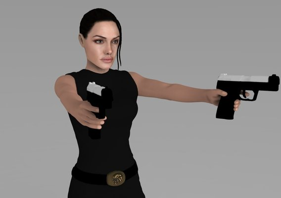 Lara Croft Angelina Jolie 3D printable