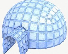 Igloo Low Poly 3D model