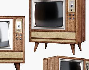 Old TV 3D retro
