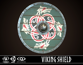 Viking Shield 01 3D asset