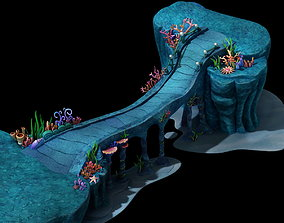 coral reef bridge 3D model