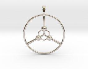 3D print model Peace pendant