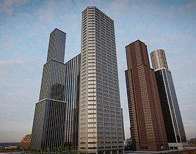 3D model SKYSCRAPER CITY BUILDING 07