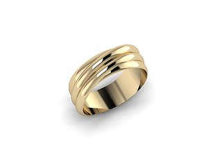 3D printable model wedding Jewelry Ring
