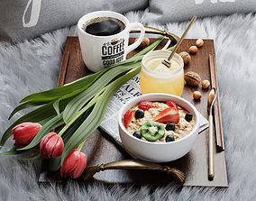 3D Breakfast in bed