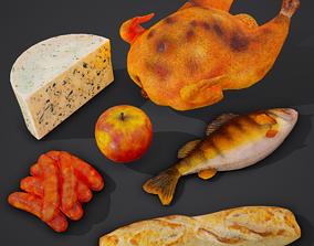 6 Medieval Food Props 3D