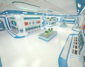 3D model game-ready Sci-Fi Interior