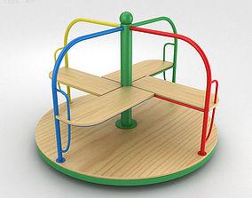 Playground Merry Go Round 3D model