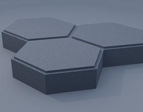 triple hexagon paving stone 3D print model