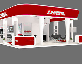 3D model EXHIBITION STAND 23