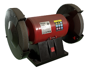 Bench grinder Used Dirty Game-Ready 3D asset