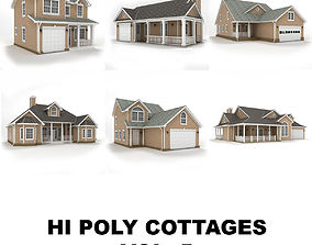 Hi-poly cottages collection vol 5 3D