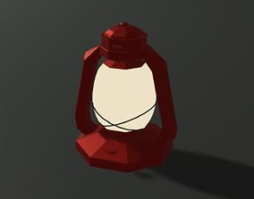3D asset Low-poly Kerosene Lantern