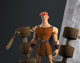 Hercules 3D model rigged