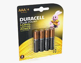 AAA Duracell Alkaline Batteries Package 3D model