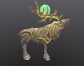 3D model rigged Magic Stone Deer