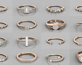 632 Women solitaire ring 3dm stl render detail