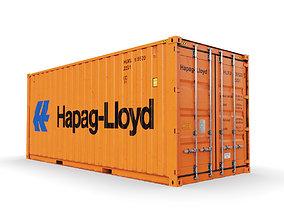 20 feet Hapag-Lloyd standard shipping 3D model