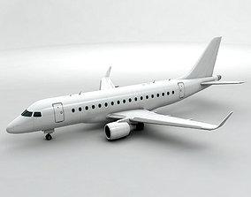 Embraer ERJ 170 - Generic White 3D asset