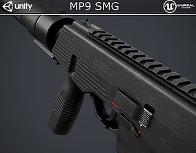 MP9 Submachine Gun 3D model VR / AR ready
