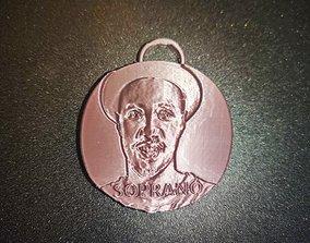 porte clef soprano chanteur 3D print model