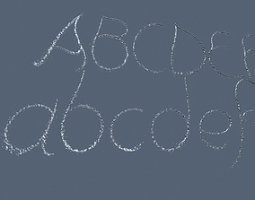 Waterjet font 3D animated