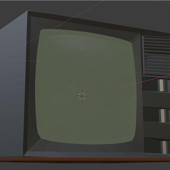 Low poly TV 3D models