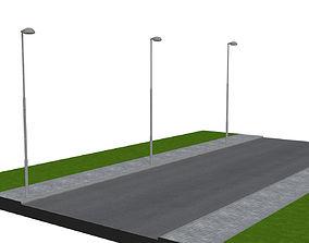 Street lamp 01 3D